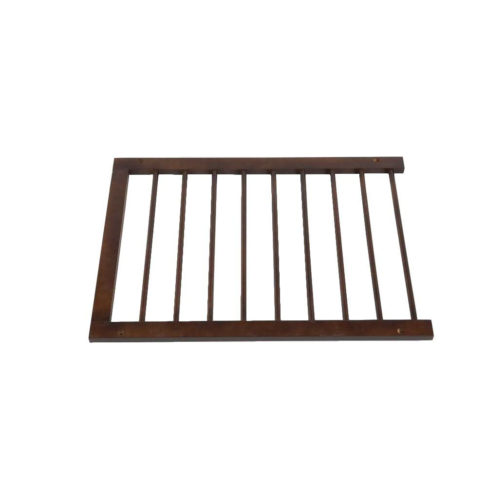22-1/4 in. Walnut Extension for Step Over Gate