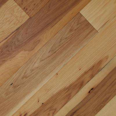 Wire Brushed Camel Hickory 3/8 in.Tx7.5 in.WxVarying L Click Lock Exotic Engineered Hardwood Flooring (30.92 sq.ft/case)