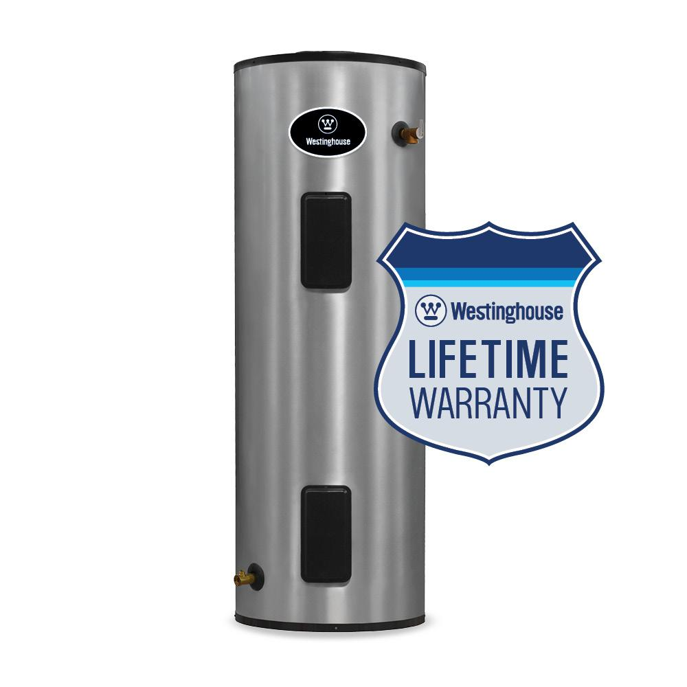 Westinghouse 115 Gal. Lifetime 4500-Watt Electric Water Heater with Durable 316l Stainless Steel Tank