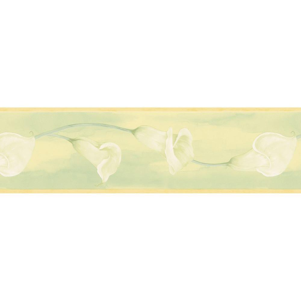 Brewster 7 in. H x 12 in. W Watercolor Calla Lily Border Sample