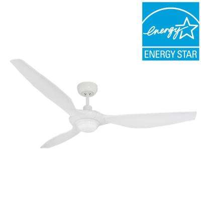 Vogue Plus 60 in. LED Indoor/Outdoor Pure White Ceiling Fan