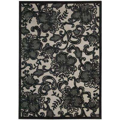 Graphic Illusions Pewter 7 ft. 9 in. x 10 ft. 10 in. Area Rug