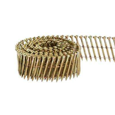 2-1/2 in. x 1/9 in. 15-Degree Wire Coil Philips Head Nail Screw Fastener (2,000-Pack)