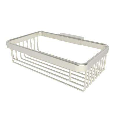 Hotelier 8 in. Deep Basket in Satin Nickel