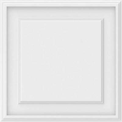 5/8 in. x 18 in. x 18 in. Legacy Raised Panel White PVC Decorative Wall Panel