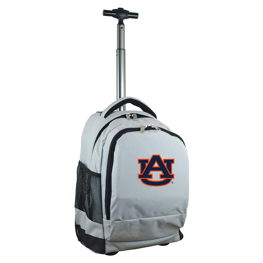 NCAA Auburn 19 in. Gray Wheeled Premium Backpack