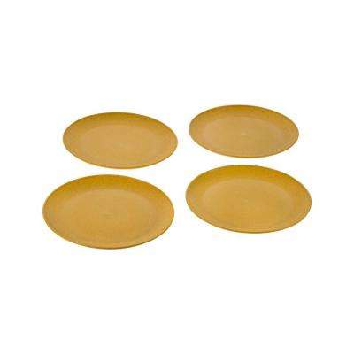 EVO Sustainable Goods 8 in. Yellow Eco-Friendly Wood-Plastic Composite Plate (Set of 4)