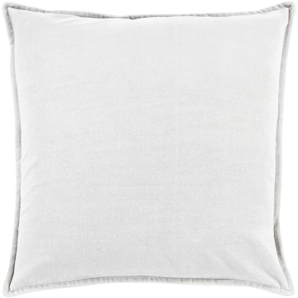 ArtisticWeavers Artistic Weavers Velizh Light Gray Solid Polyester 22 in. x 22 in. Throw Pillow