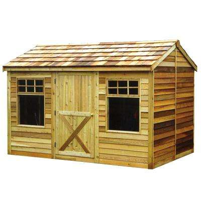 Haida 12 ft. x 8 ft. Western Red Cedar Garden Shed