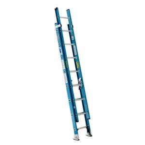 Werner 16 ft fiberglass extension ladder with 250 lb for Escalera plegable homecenter