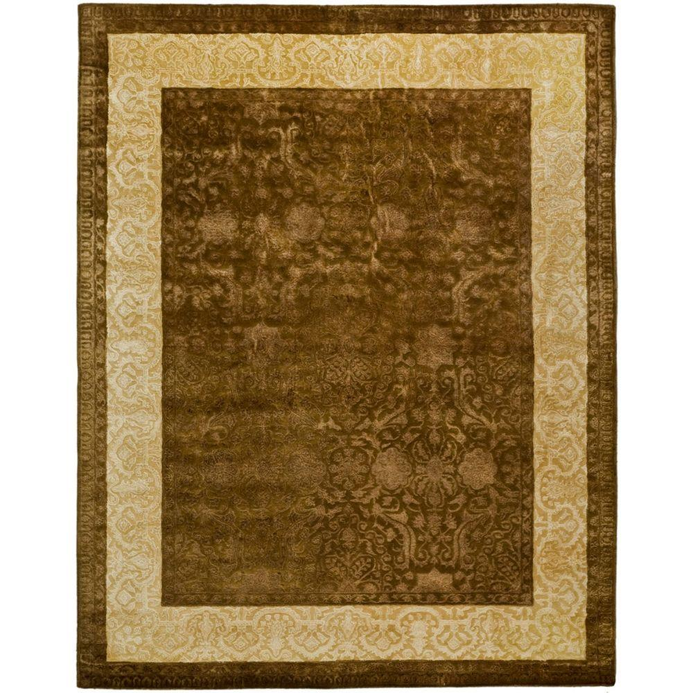 Safavieh Silk Road Chocolate/Light Gold 9 ft. 6 in. x 13 ft. 6 in. Area Rug