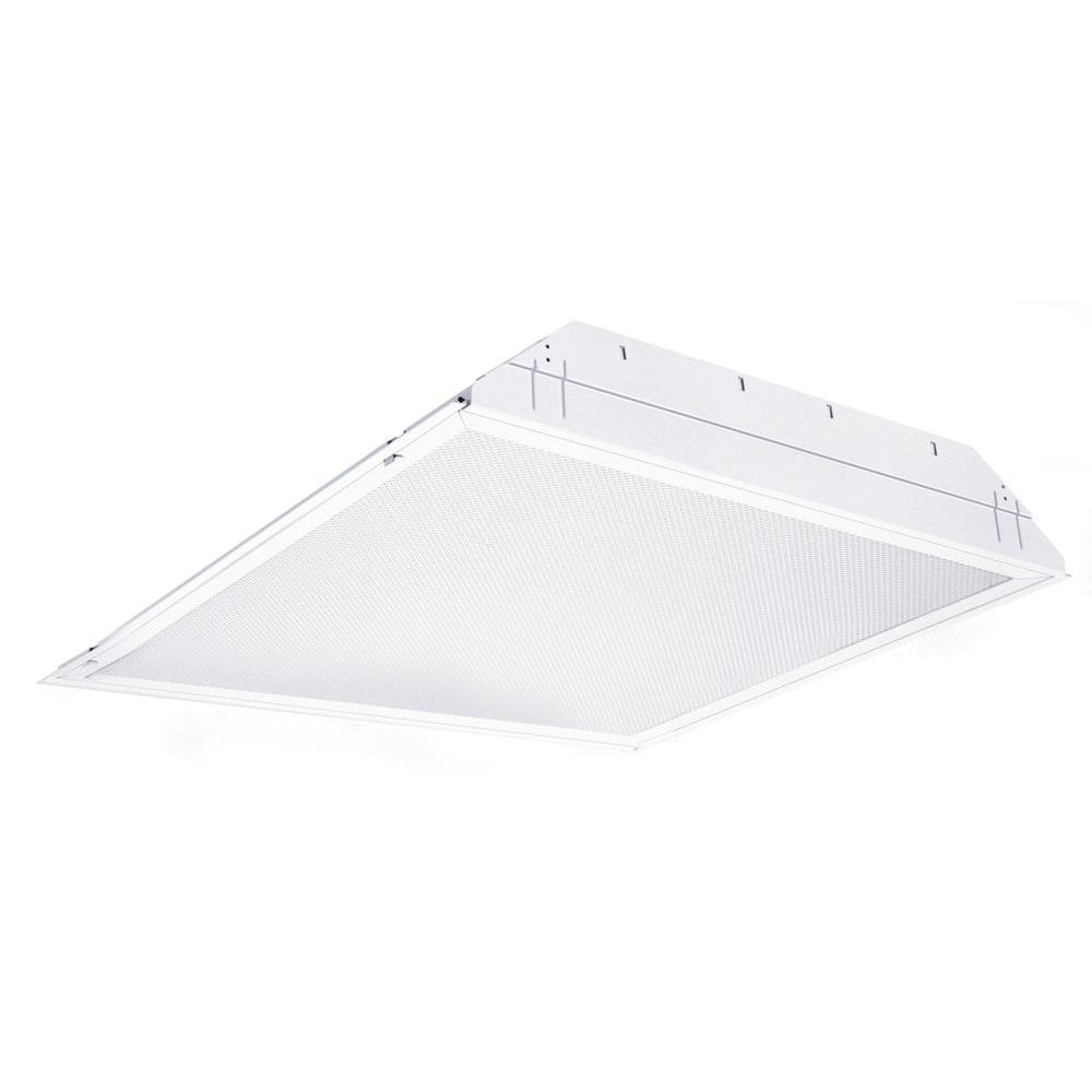 Lithonia Lighting 2 ft. x 4 ft. 4-Light LED Lensed Grid Troffer