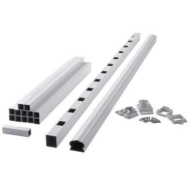 ArmorGuard Deluxe 72 in. White Composite Stair Rail Kit
