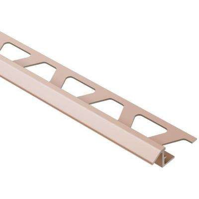Reno-TK Satin Copper Anodized Aluminum 3/8 in. x 8 ft. 2-1/2 in. Metal Reducer Tile Edging Trim