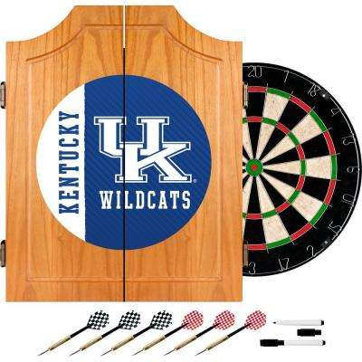 University of Kentucky Text 20.5 in. Wood Dart Cabinet Set