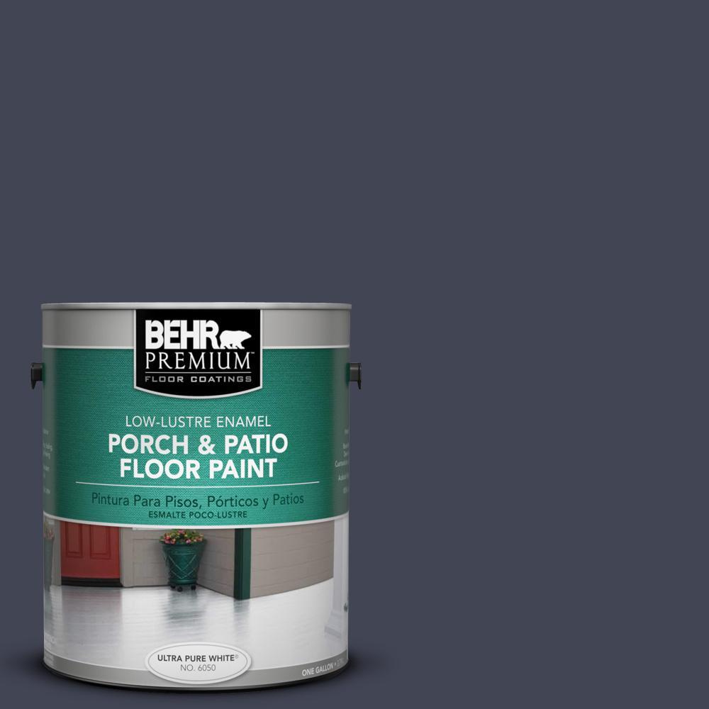 1 gal. #PPU15-19 Black Sapphire Low-Lustre Porch and Patio Floor Paint