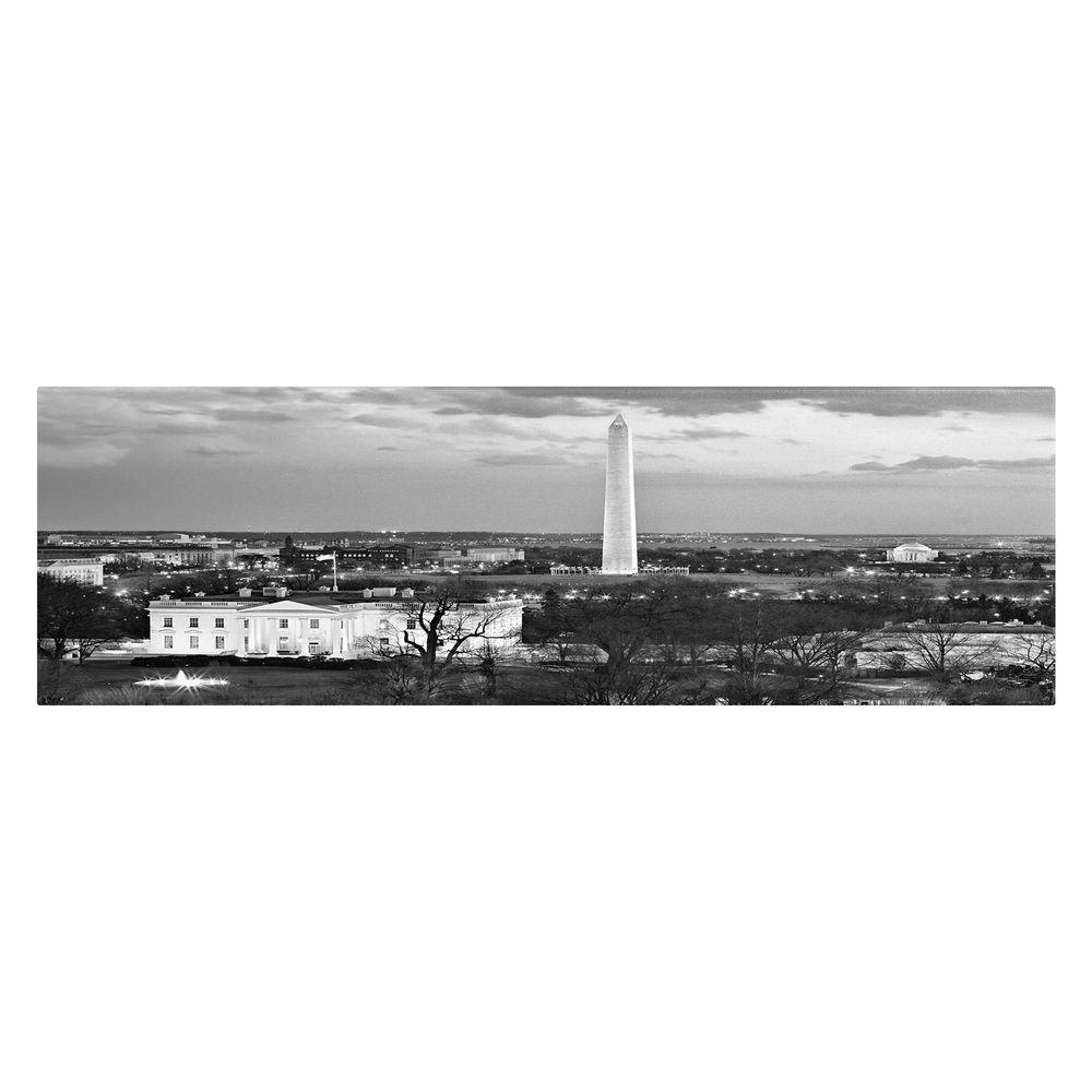 10 in. x 19 in. White House Canvas Art