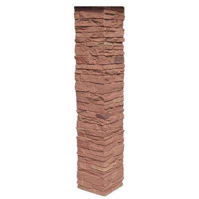 Slatestone 8 in. x 8 in. x 41 in. Arizona Red Polyurethane Stone Post Cover