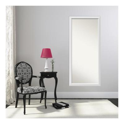 Choose Your Custom Size 28 in. x 62 in. Blanco White Wood Framed Mirror