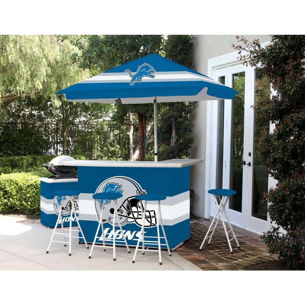 Best of Times Detroit Lions All-Weather Patio Bar Set wit...