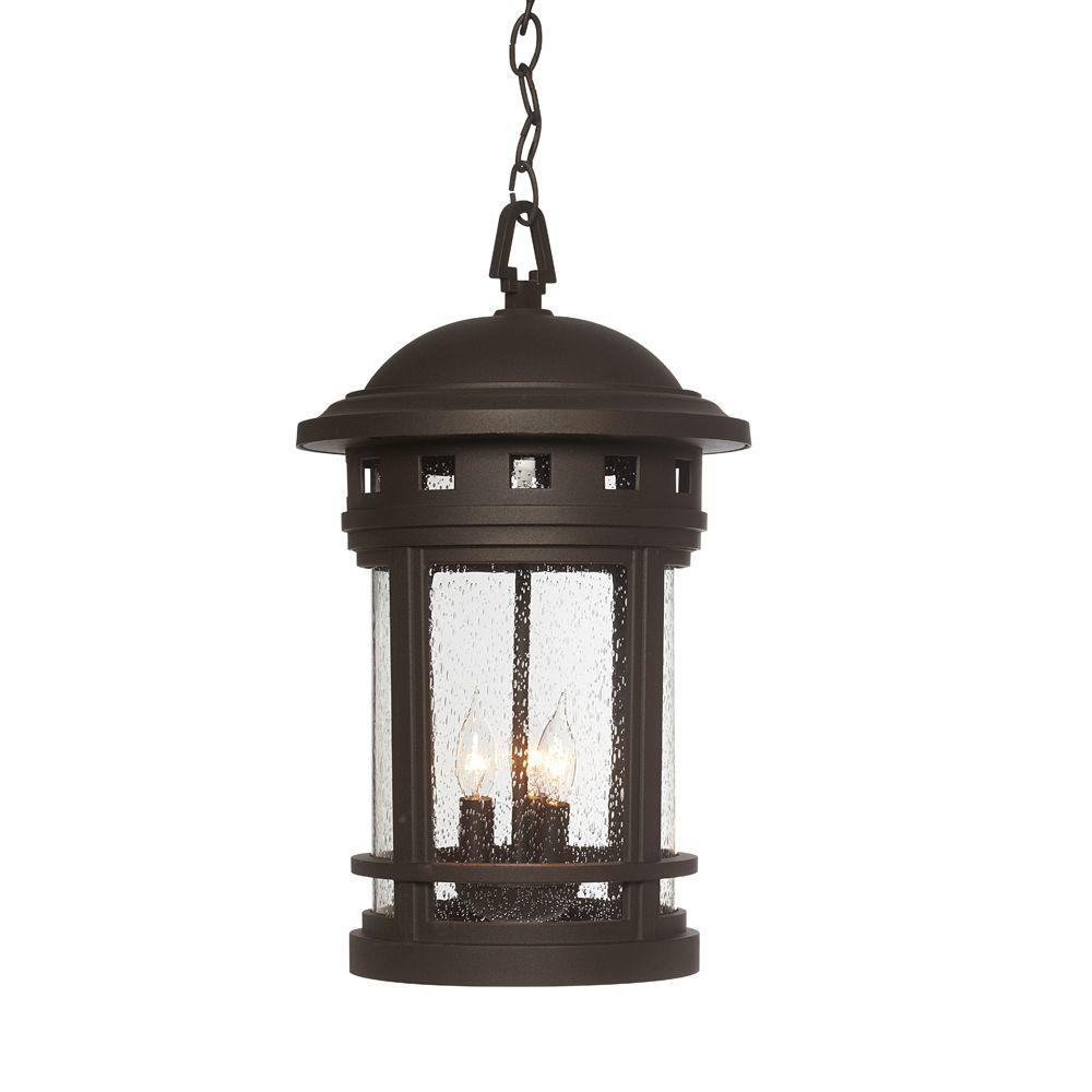 Mesa Collection 3-Light Oil-Rubbed Bronze Outdoor Hanging Lantern