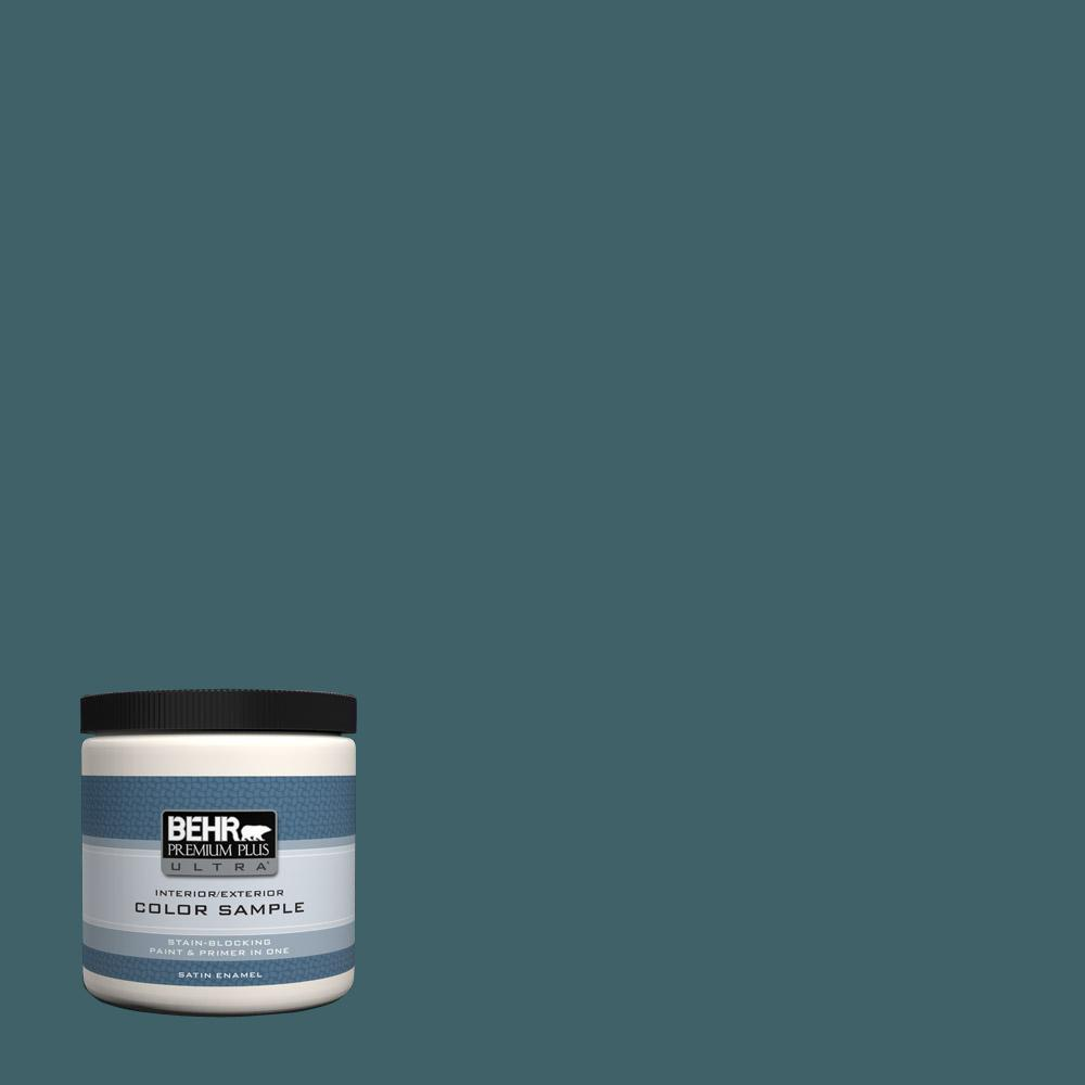 Behr Premium Plus Ultra 8 Oz T17 12 Wanderlust Satin Enamel Interior Exterior Paint Sample