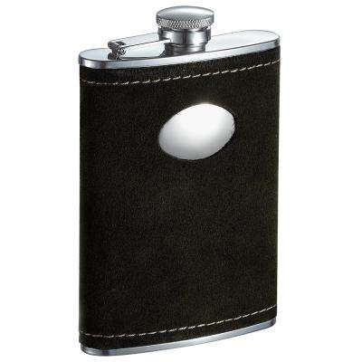 Manzanillo Dark Olive Colored Suede Liquor Flask