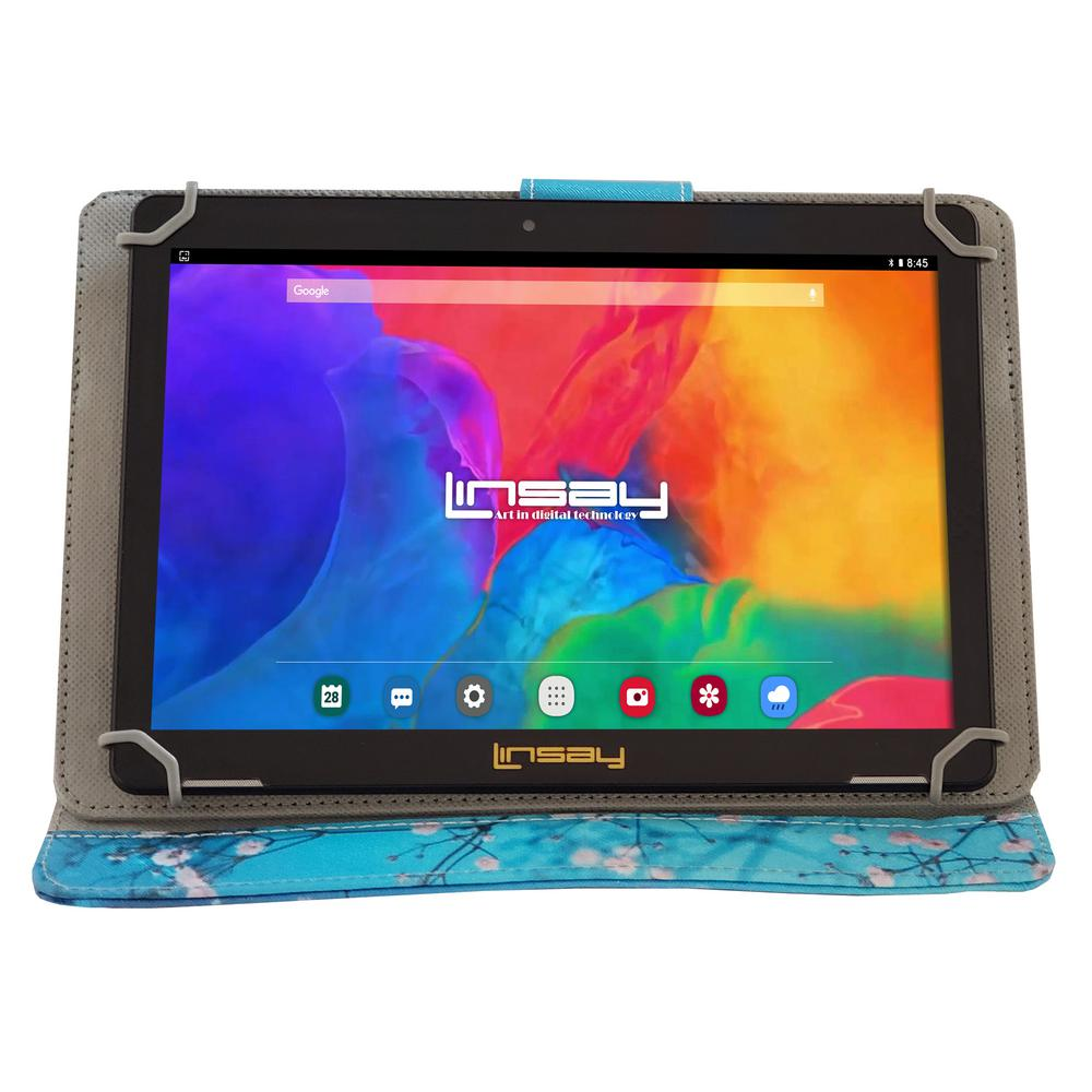 LINSAY 10.1 in. 1280x800 IPS 2GB RAM 16GB Android 9.0 Pie Tablet with Flowers Marble Case was $324.99 now $79.99 (75.0% off)