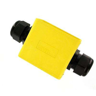 1-Gang Standard Depth Pendant Style Cable Dia 0.590 in. - 1.000 in. Portable Outlet Box, Yellow