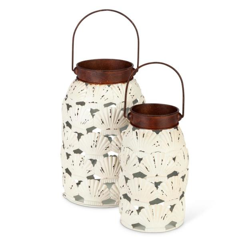 Asst Nested Shell Lanterns (Set of 2)