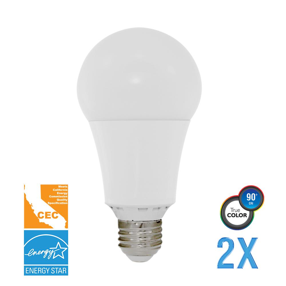 100W Equivalent Soft White A21 Dimmable LED CEC-Certified Light Bulb (2-Pack)