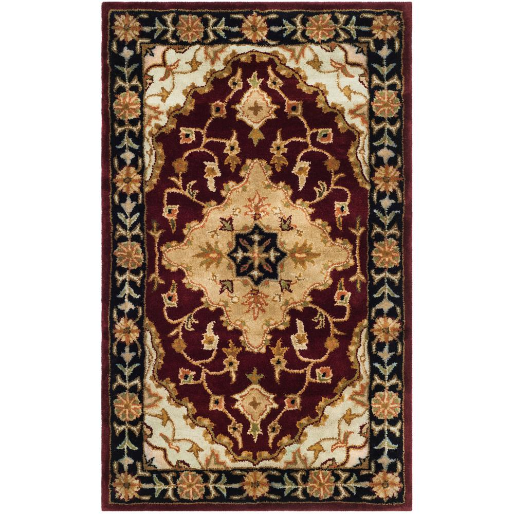 Safavieh Heritage Redblack 3 Ft X 5 Ft Area Rug Hg760b 3 The