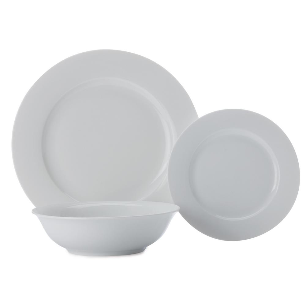 Maxwell u0026 Williams White Basics European Dining Set 18-Piece Gift Boxed  sc 1 st  The Home Depot : european tableware - pezcame.com