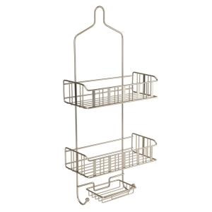 Click here to buy Bath Bliss 3-Tier Shower Caddy - Flat Stripe Wire by Bath Bliss.