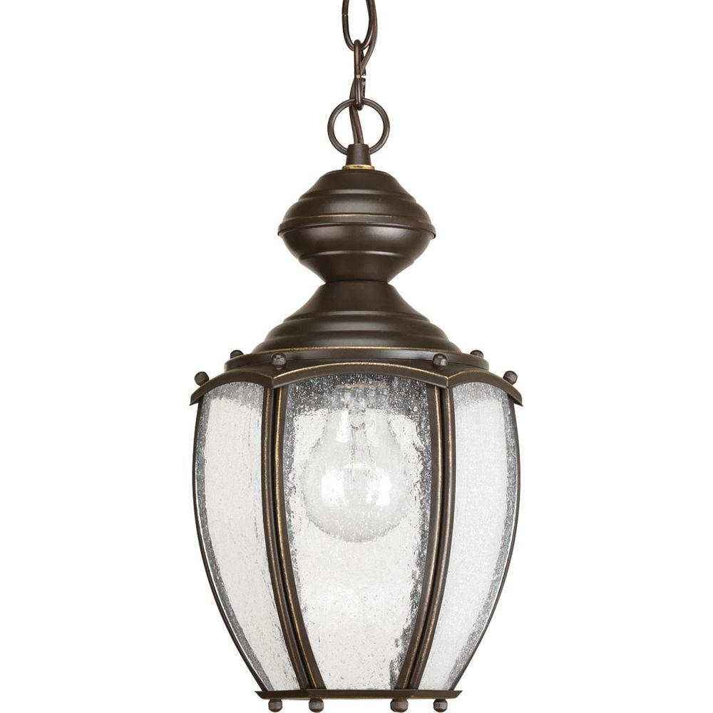 Roman Coach Collection 1-Light Outdoor Antique Bronze Hanging Lantern
