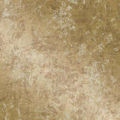 Distressed Gold Leaf Vinyl Peelable Wallpaper (Covers 56 sq. ft.)