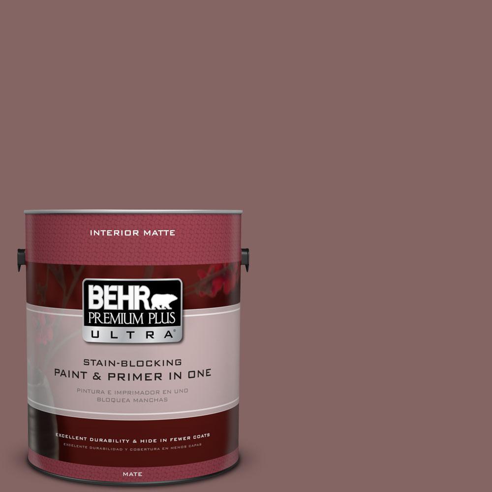BEHR Premium Plus Ultra 1 gal. #130F-6 Brazil Nut Flat/Matte Interior Paint
