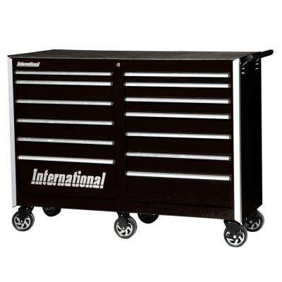Pro Series 54 in. 13-Drawer Cabinet, Black