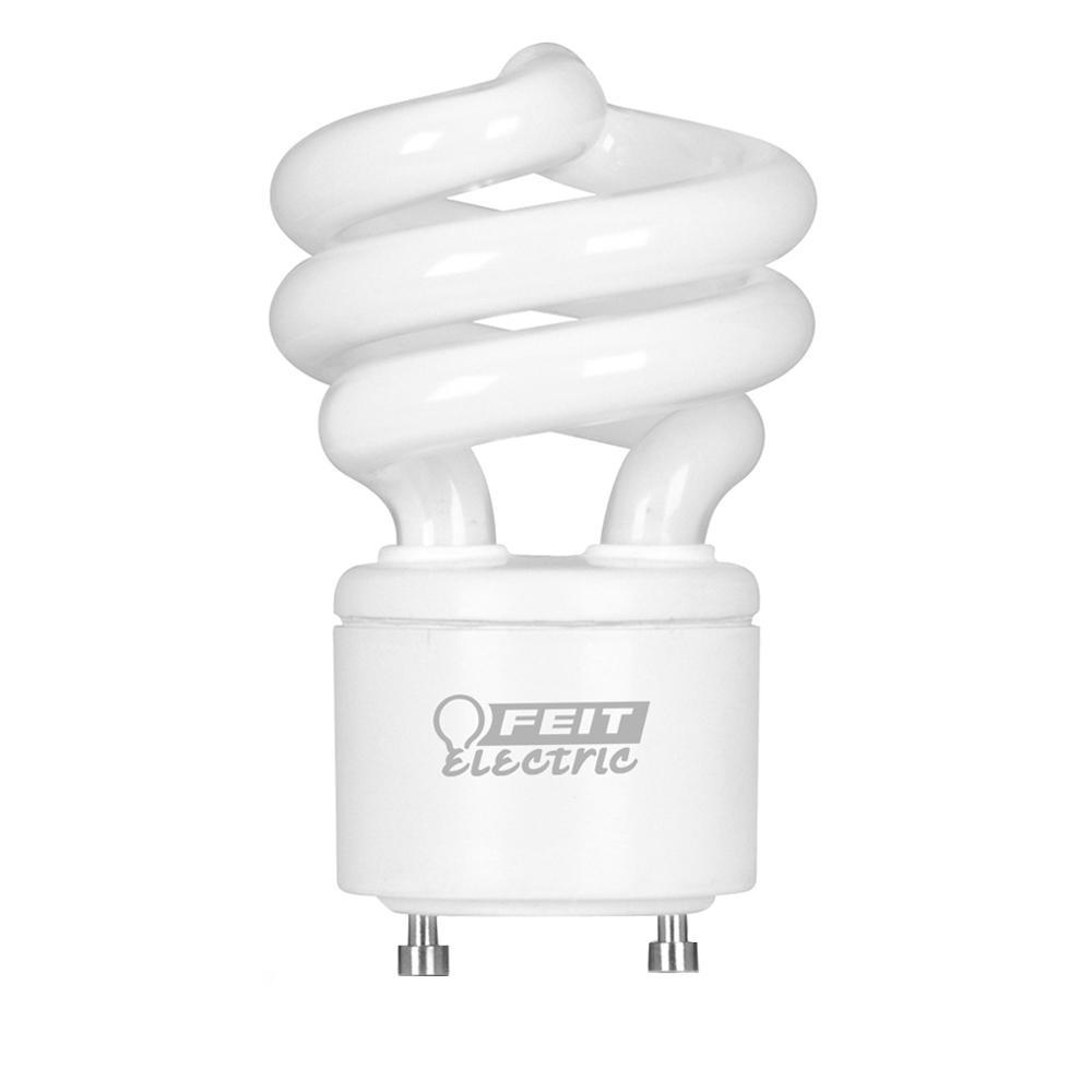 60W Equivalent Cool White (4100K) Spiral GU24 CFL Light Bulb