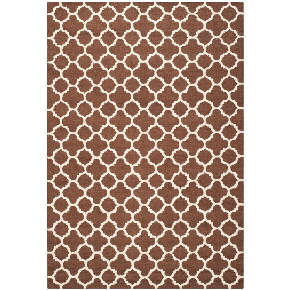 Cambridge Dark Brown/Ivory 8 Ft. X 10 Ft. Area Rug