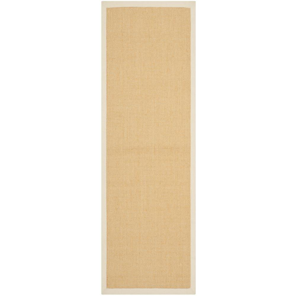 Safavieh Natural Fiber Maize/Wheat 2 ft. 6 in. x 12 ft. Runner