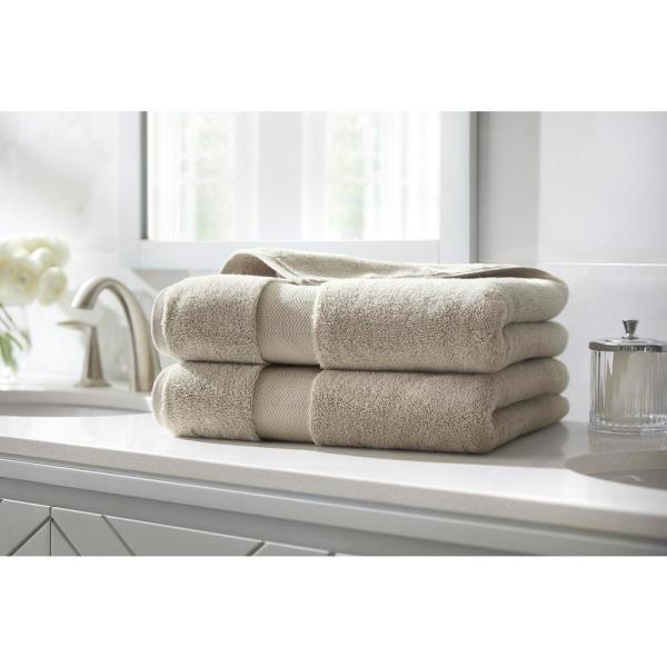 Home Decorators Collection Plush Soft Cotton Bath Towel in Biscuit (Set