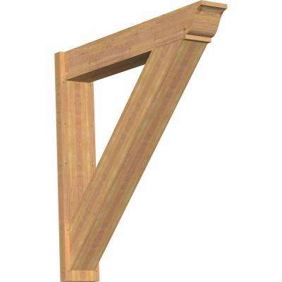 8 in. x 44 in. x 44 in. Western Red Cedar Traditional Smooth Outlooker