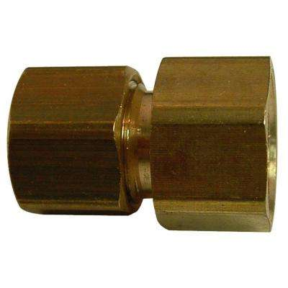 3/8 in. Fem x 3/8 in. Fem Comp Swivel Lead-Free Brass Compression Adapter