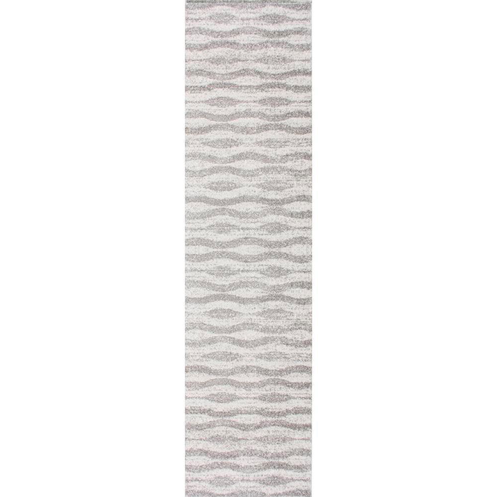 Tristan Modern Striped Gray 3 ft. x 10 ft. Runner