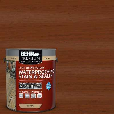 1 gal. #ST-130 California Rustic Semi-Transparent Waterproofing Exterior Wood Stain and Sealer