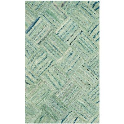 Nantucket Green/Multi 2 ft. x 3 ft. Area Rug