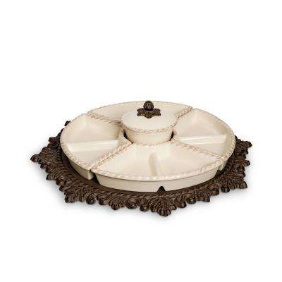 Cream Lazy Susan Crudite