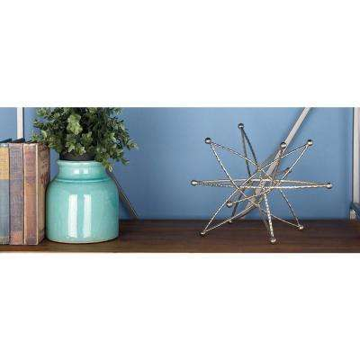 Decorative Abstract Star Sculptures in Gold, Silver and Bronze Finished Iron (3-Pack)
