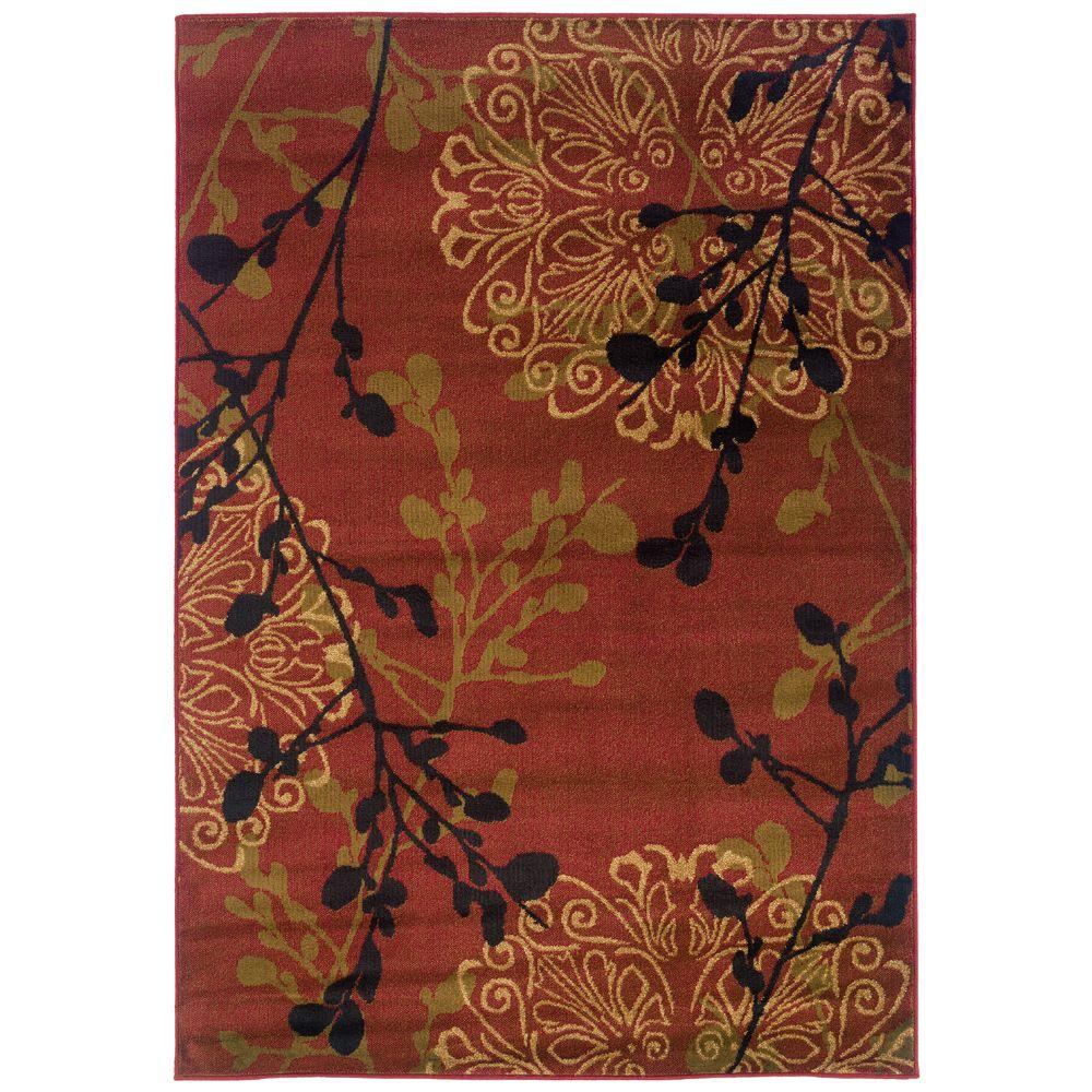 null Legacy Dappled Red 3 ft. 10 in. x 5 ft. 5 in. Area Rug